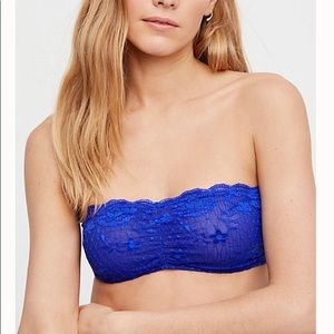 Free People Intimately Blue Bandeau Sz S NWT